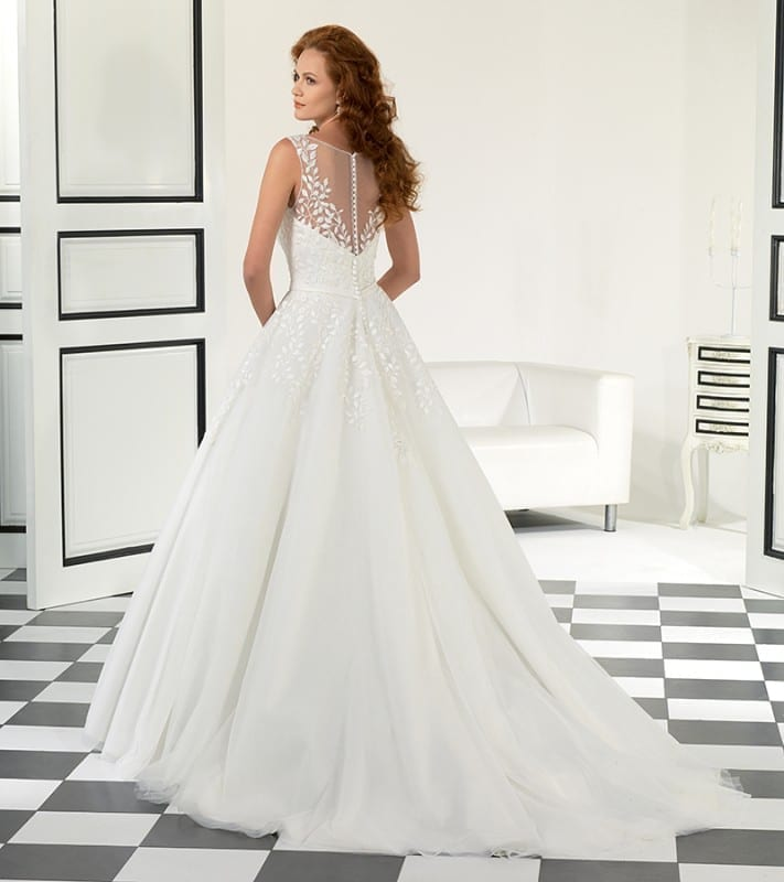 EddyK #EK1005 with illusion back and details of 3D Embroidery