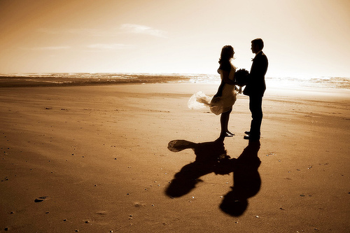 Grab Your Dress And Groom Get Married On A Beach