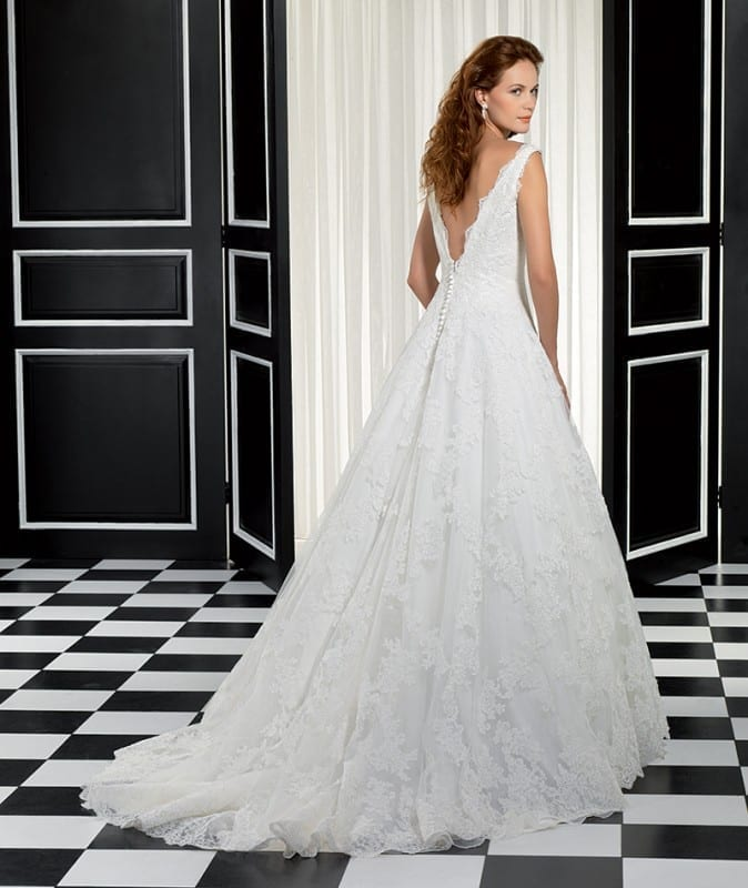 ADK # 77937, Corded Lace over soft Tulle and a V-back