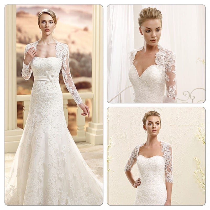 Wear A Cute Lace Jacket Over Your Wedding Dress Our Picks Ek1033 Left 77980 Top Right 77981 Bottom