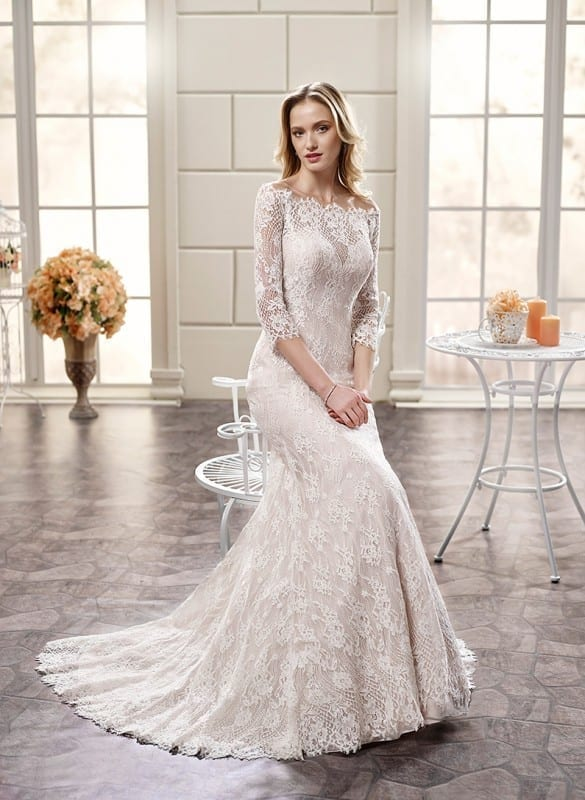10 beautiful long sleeve wedding dresses 2018 eddy k for Long sleeve indian wedding dresses