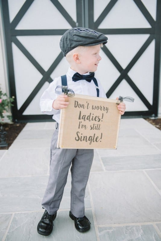 Sunday Inspiration 19 Cute Signs For Ring Bearers