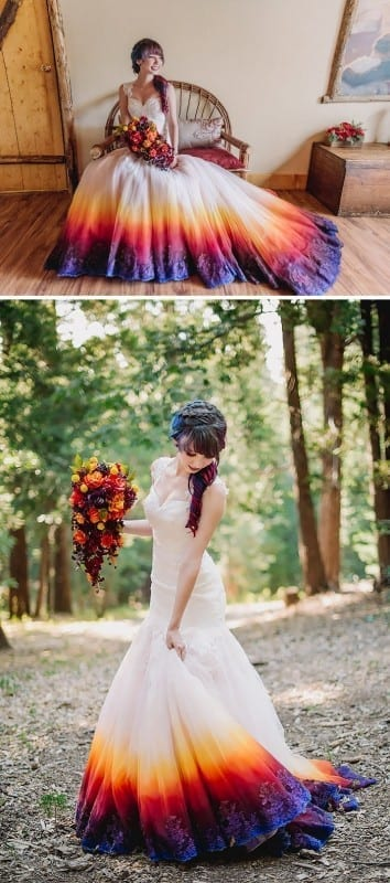 7d6e562a700 Today 30 Dip Dye Wedding Dresses Trend for a colorful 2018