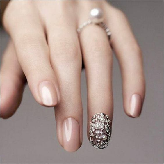 65 Easy Gorgeous Wedding Nails Ideas For 2017