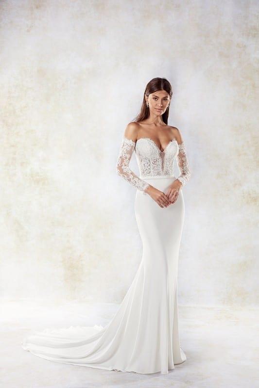 4fa4b8b1701 Eddy K – SEK1197. Long sleeve v-neck wedding dresses ...