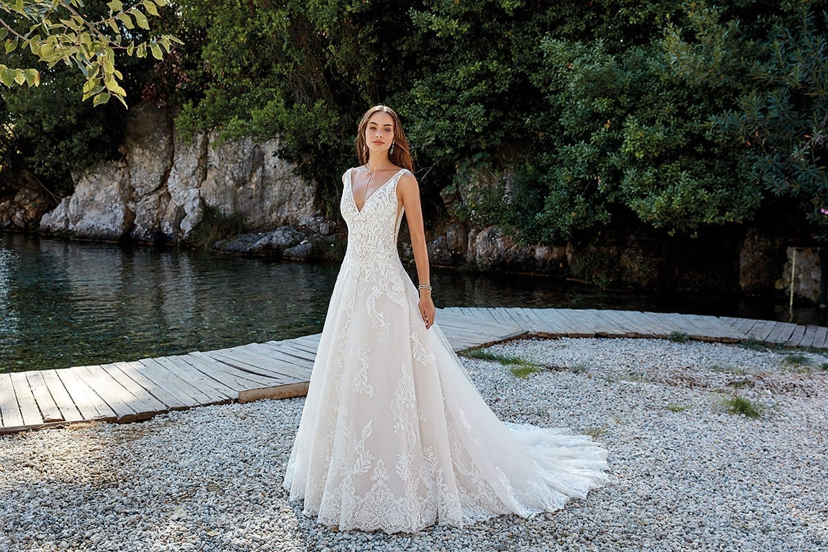 A Line Wedding Dress: Designer Wedding Dresses 2018