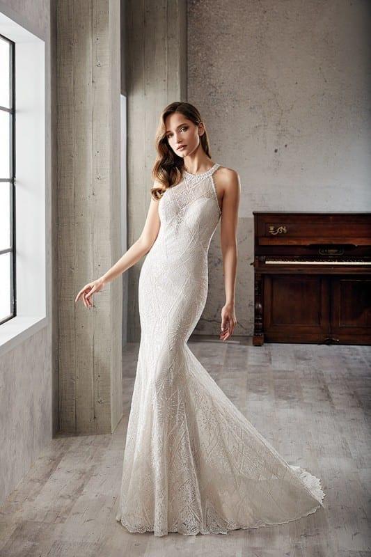 High Neck Eddy K Bridal Gowns Designer Wedding Dresses 2020