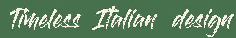 Eddy K timeless Italian Design