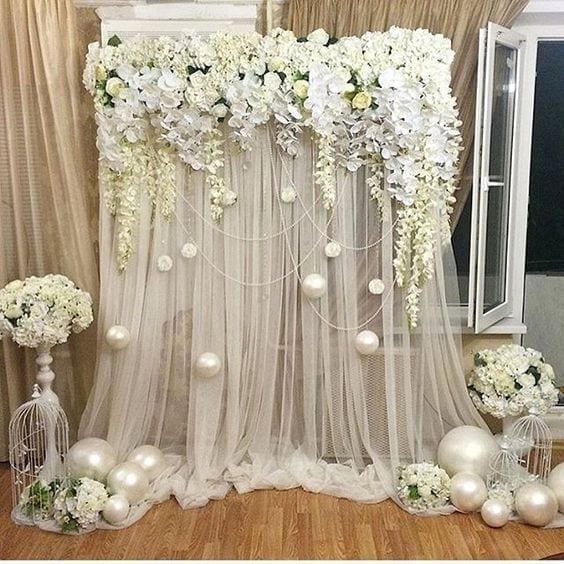 How To Make Wedding Backdrops [+50 Wedding Backdrop Ideas